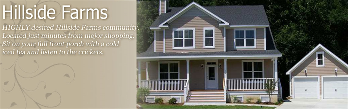 New Homes and Homesites Available at Hillside Farms in Summerville SC