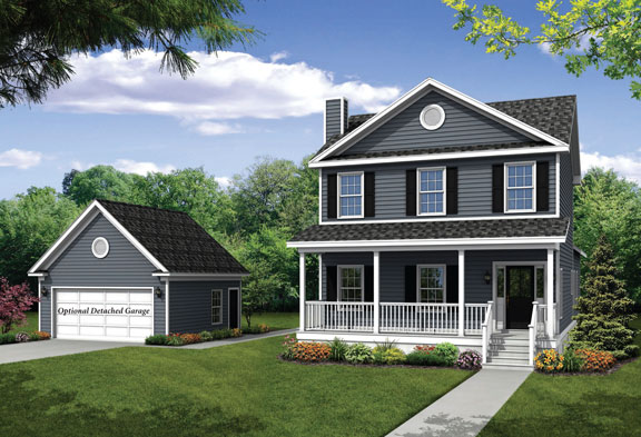 New two story Home, The Cooper Detached with 2,019 square feet 4 bedrooms 2.5 bath with 2 Car Optional Detached car garage.