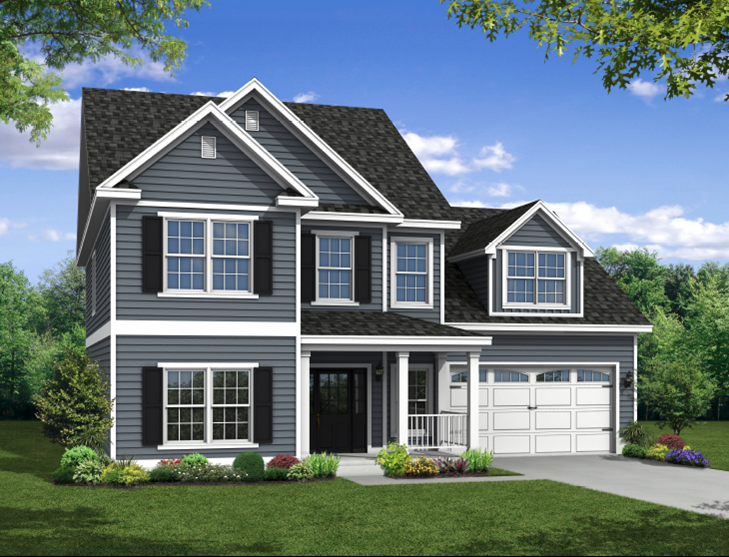 New two story Home, The Middleton with 3,089 square feet 5 bedrooms 3.5 bath with 2 car garage.