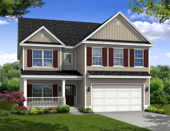 New two story Home, The Waccamaw with 2,775 square feet 4 bedrooms 3.5 bath with 2 car garage.